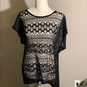 BOGO Black lace Chloe K shirt
